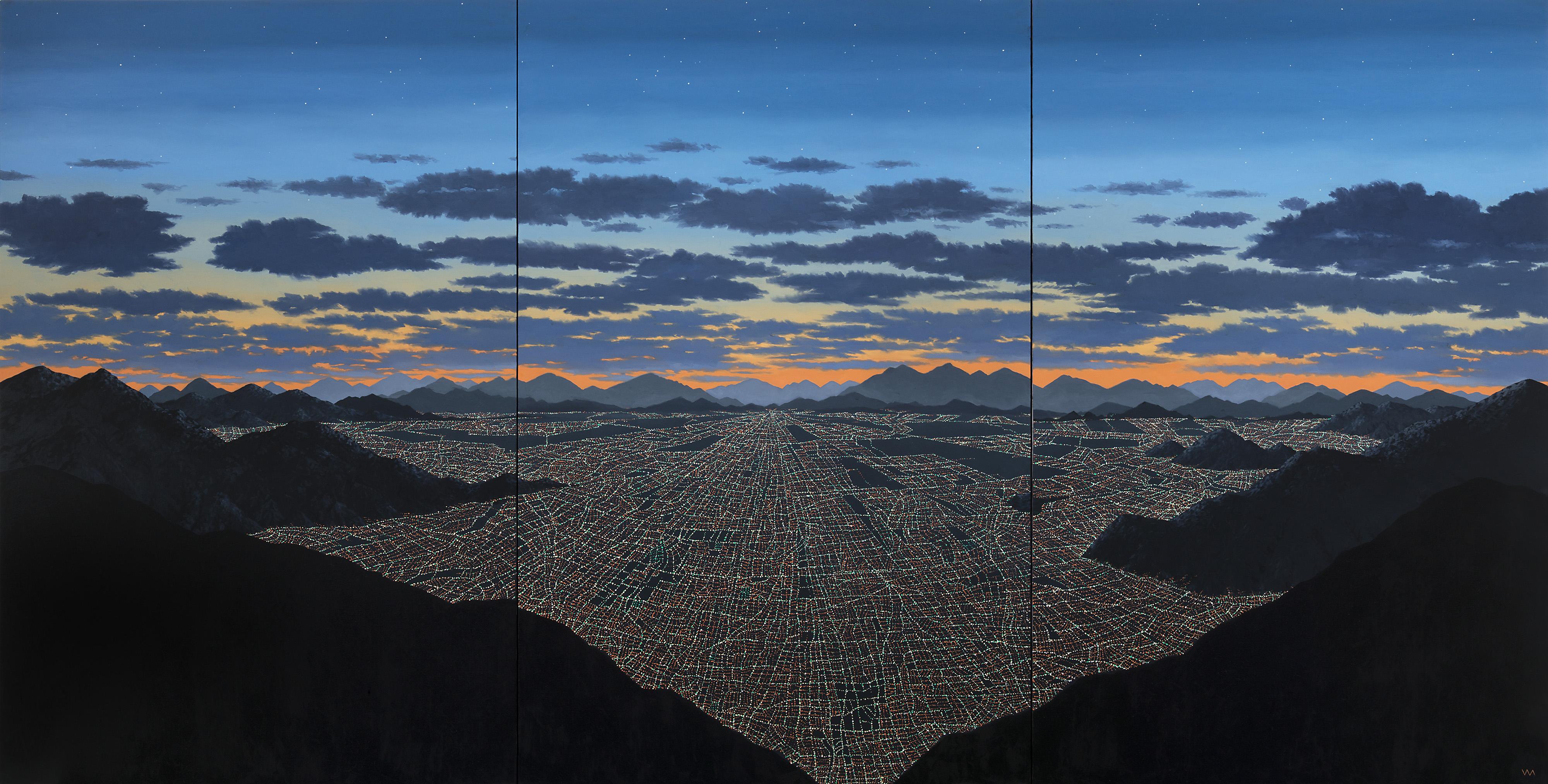 Desde Los Andes (Tríptico) | óleo sobre lino | 110 x 200 cm. | 2019